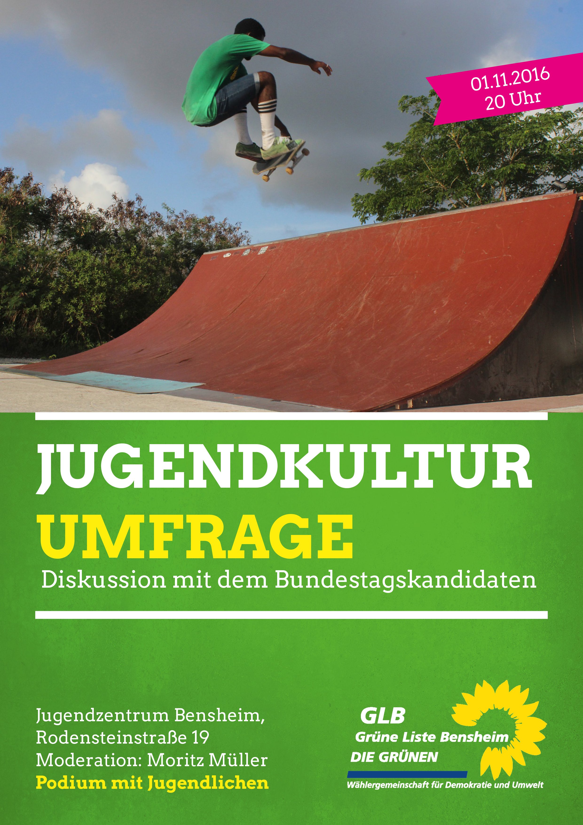 Grünes Podium zur Jugendkultur