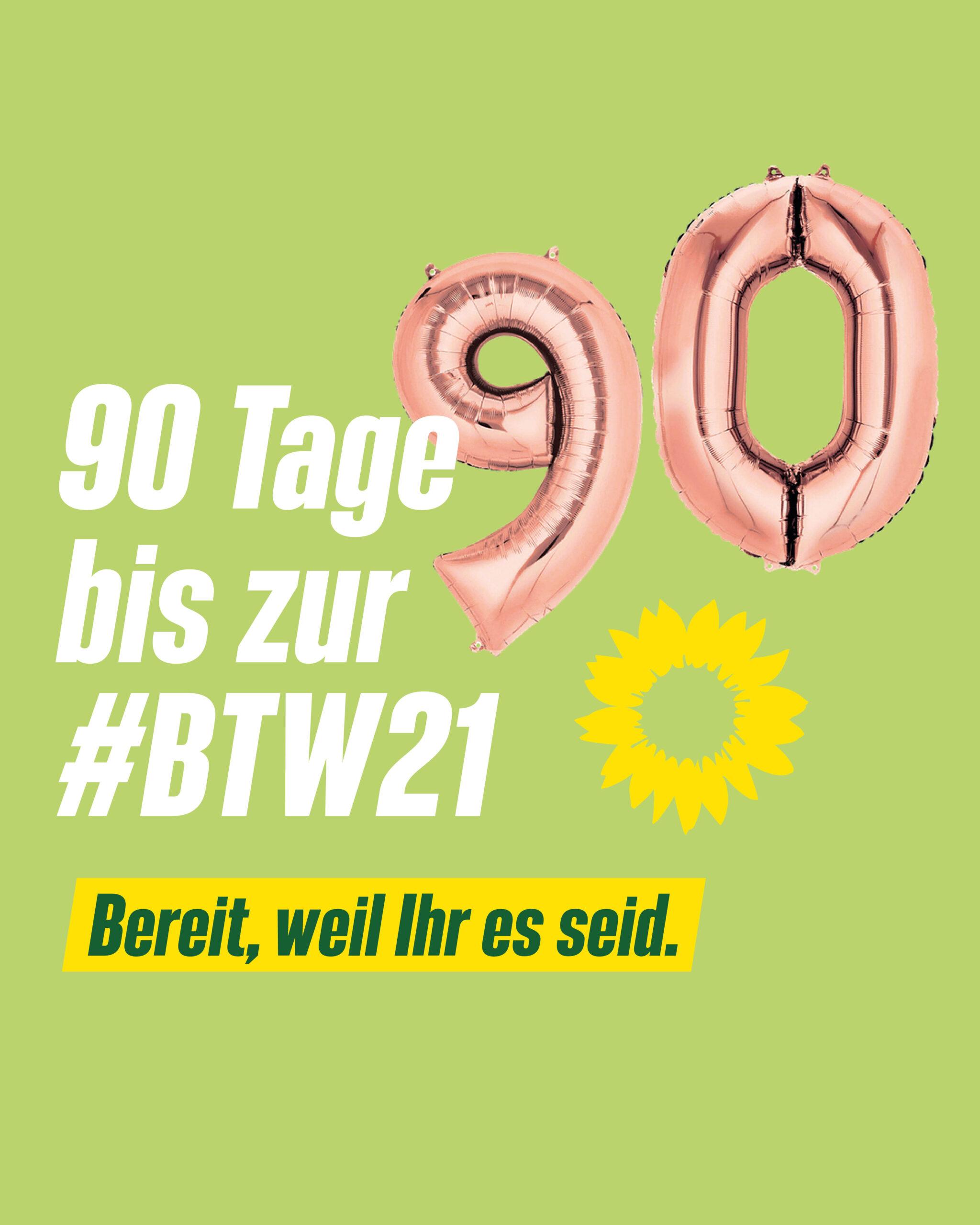 90 Tage bis zur Bundestagswahl
