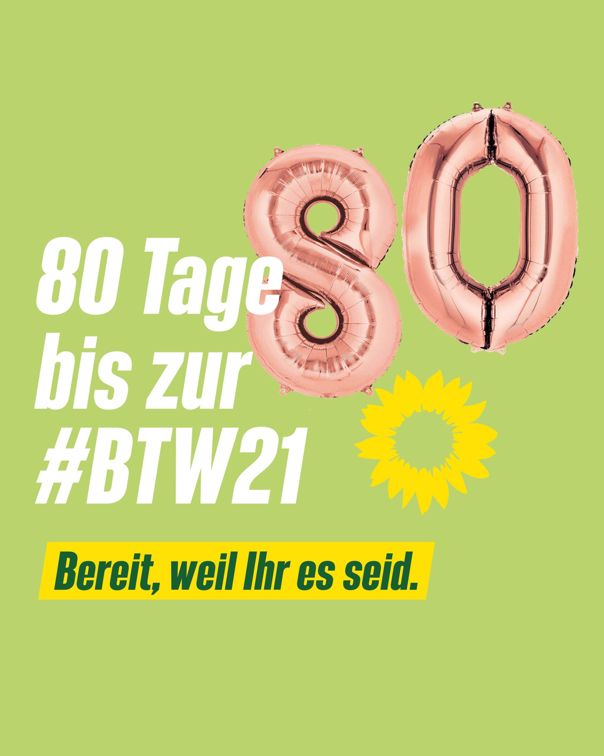 80 Tage bis zur Bundestagswahl