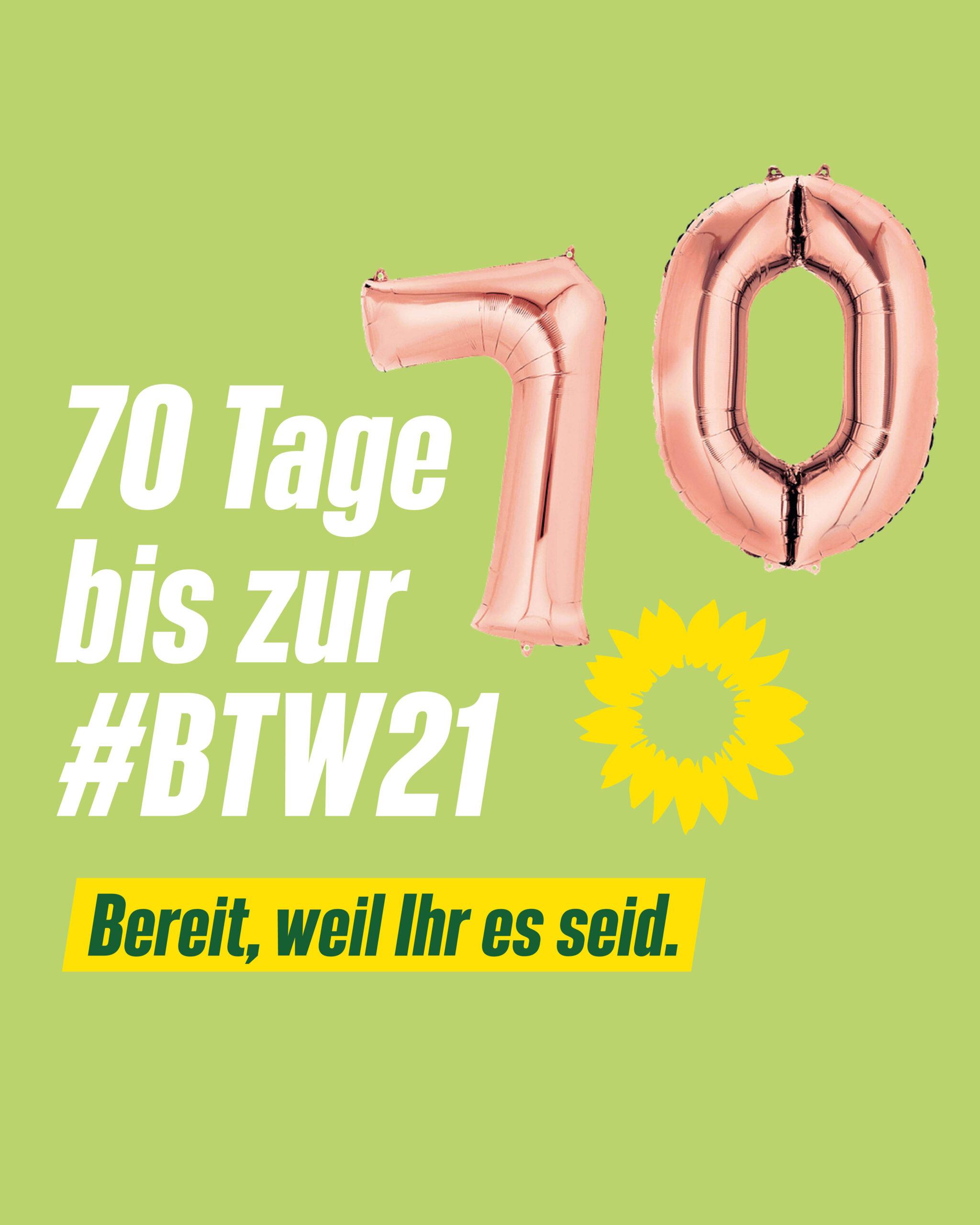 70 Tage bis zur Bundestagswahl