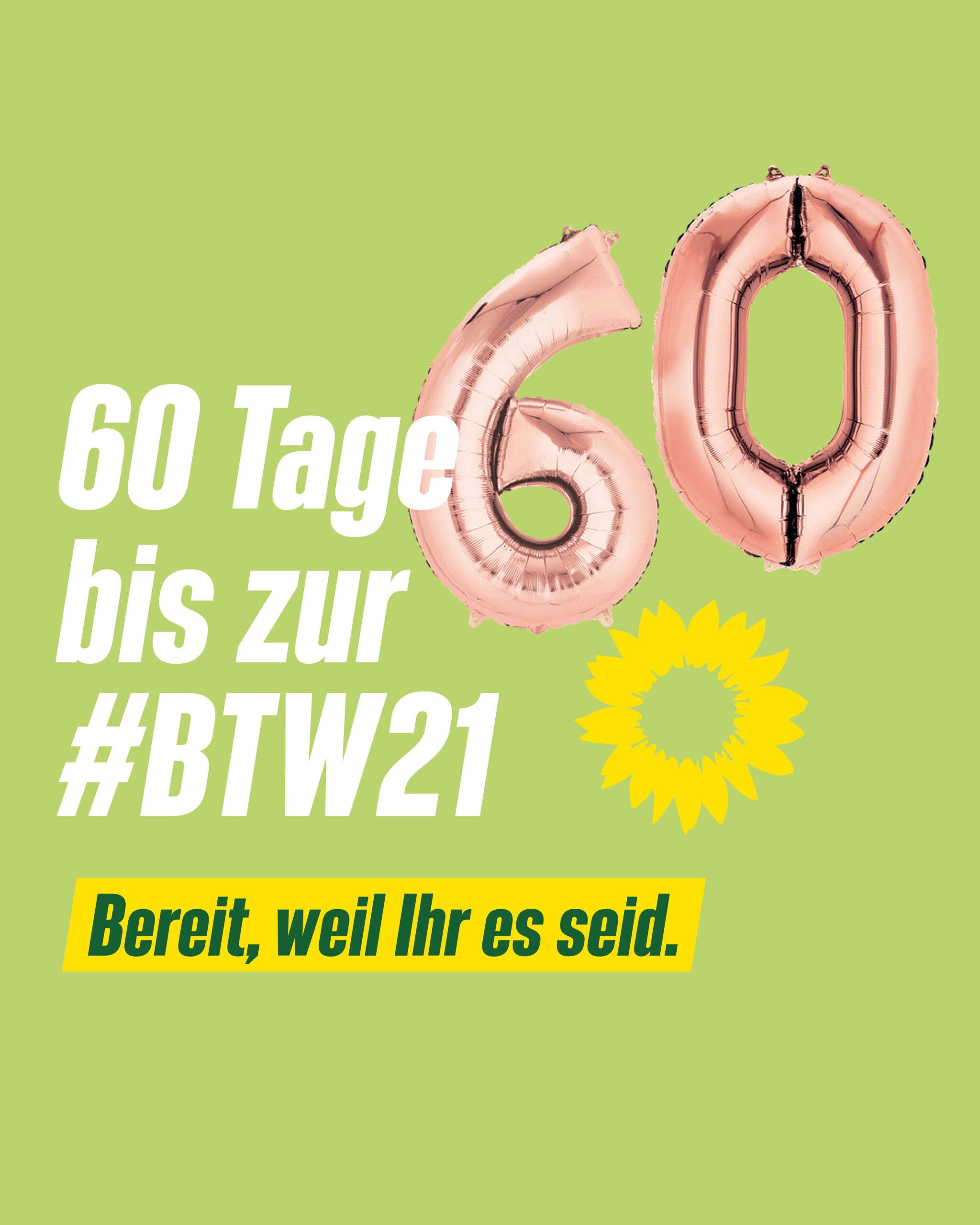 60 Tage bis zur Bundestagswahl