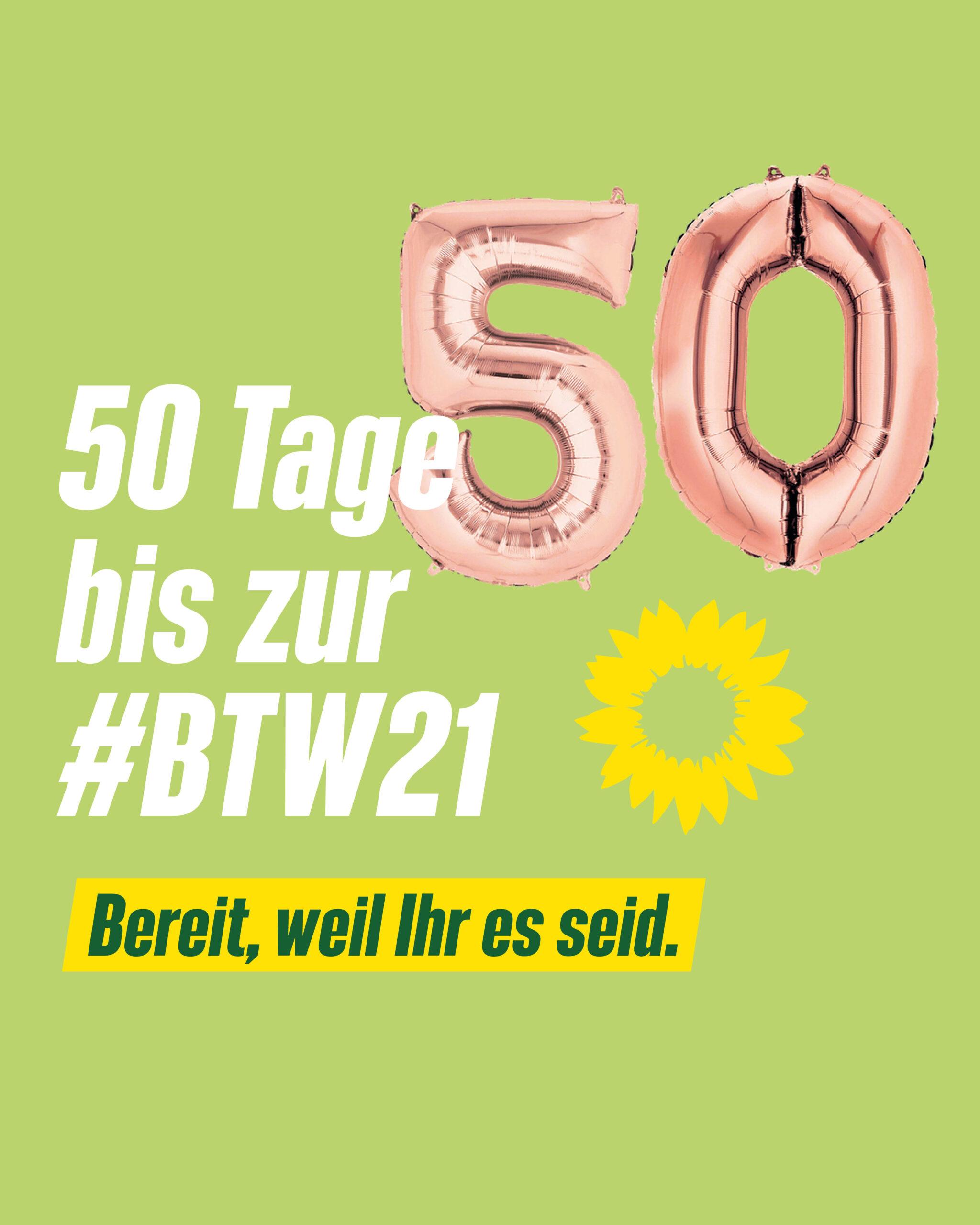 50 Tage bis zur Bundestagswahl