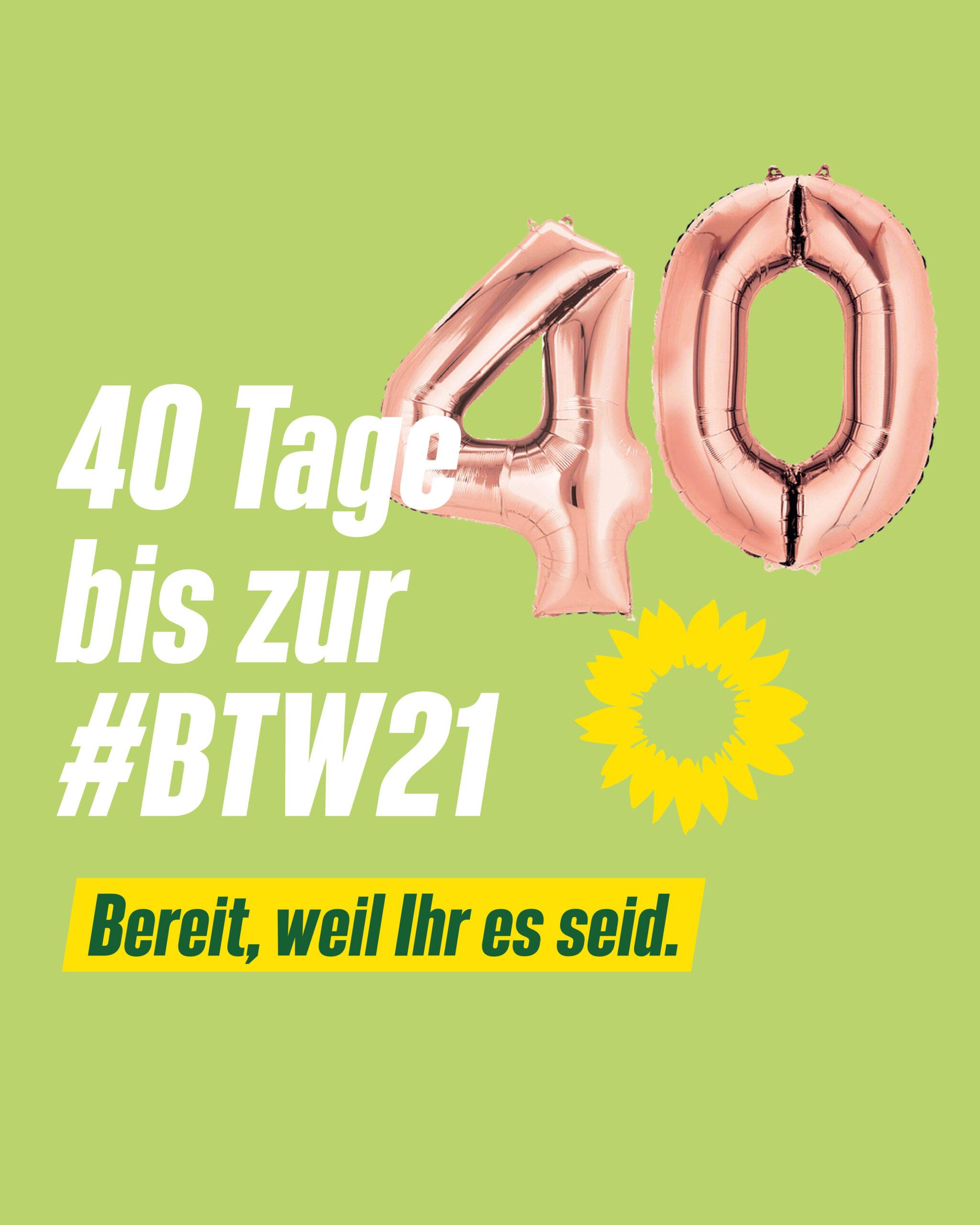 40 Tage bis zur Bundestagswahl