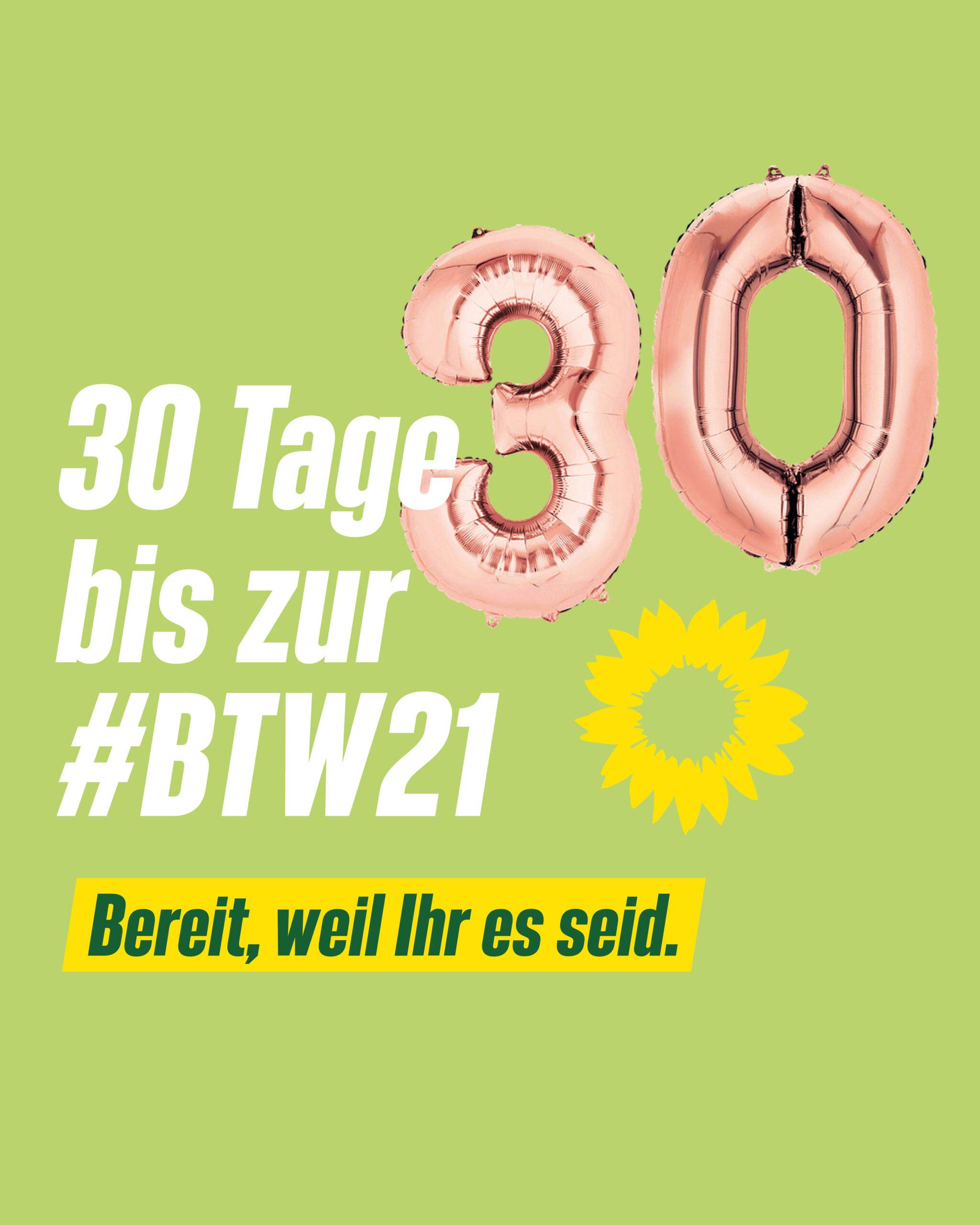 30 Tage bis zur Bundestagswahl