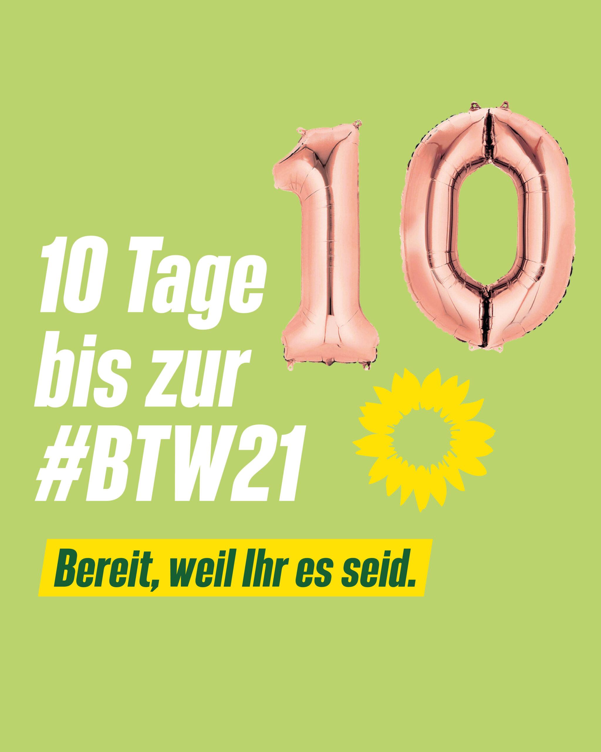 10 Tage bis zur Bundestagswahl