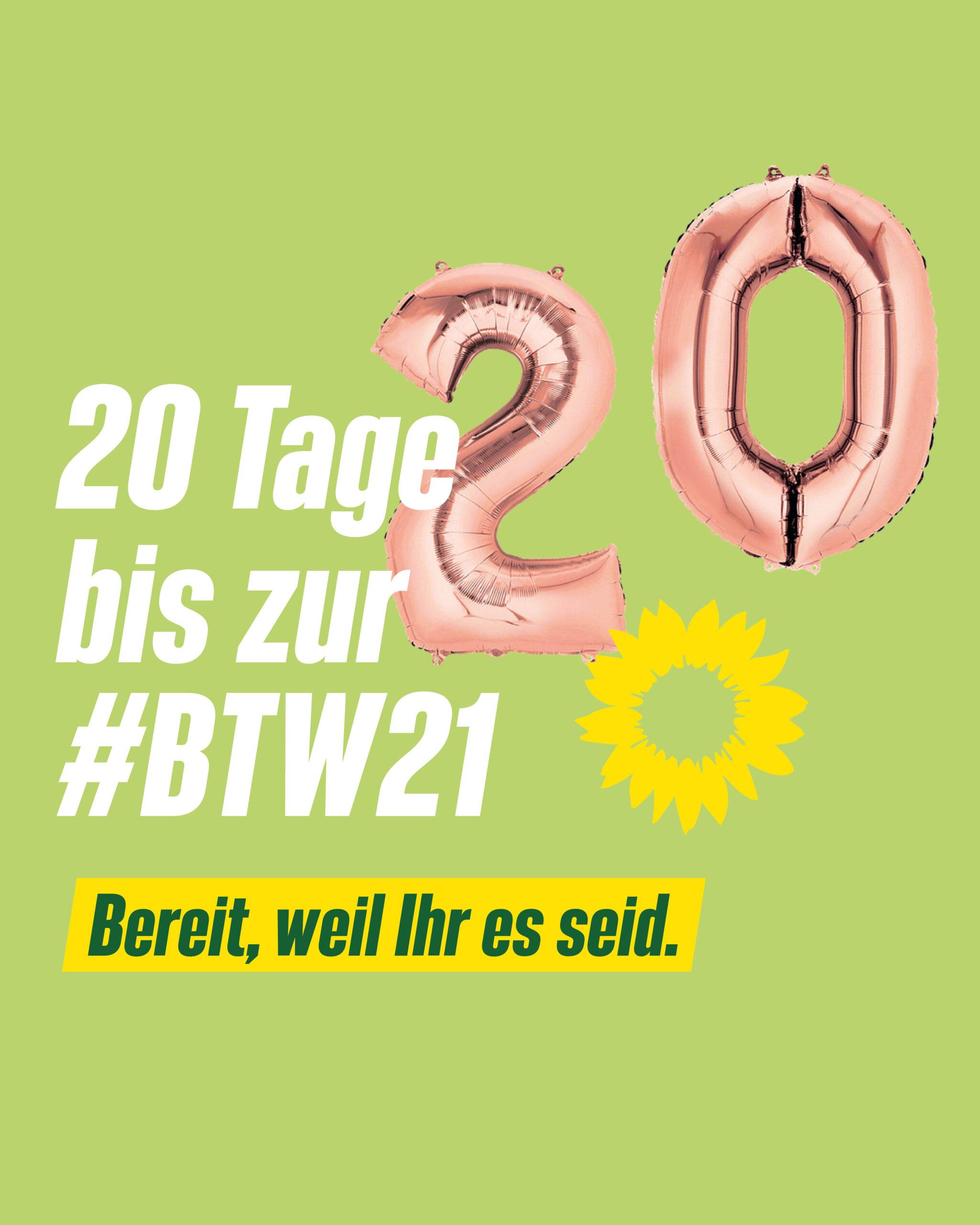 20 Tage bis zur Bundestagswahl